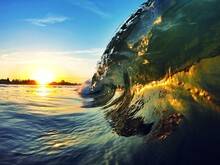 Reflection Of Person Surfing O...
