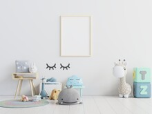 Picture Frame Hanging On Wall With Toys On Floor