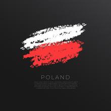 National Flag In Grunge Brush ...