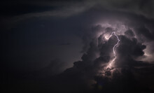 Low Angle View Of Lightning Ag...