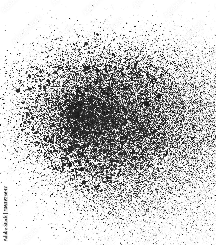 Fototapeta black spray paint ink texture or background. graffity concept