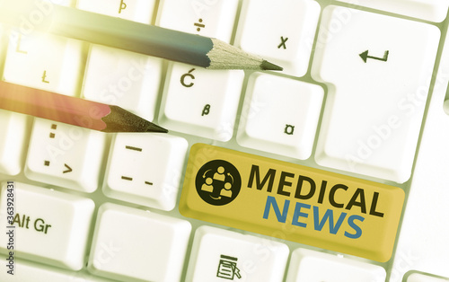 Tablou Canvas Conceptual hand writing showing Medical News