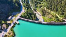 Alpin Lake And Dam In Summerti...