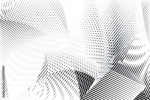 Abstract energy fluid futuristic background, geometric dynamic halftone dots and lines pattern, vector modern design texture for card, banner, flyer, cover, poster, decoration.
