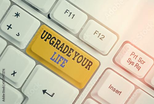 Valokuva Writing note showing Upgrade Your Life