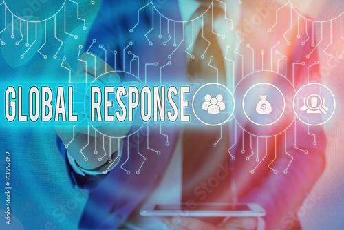 Obraz na plátně Word writing text Global Response