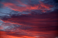 An Abstract Sky With Thick Blo...