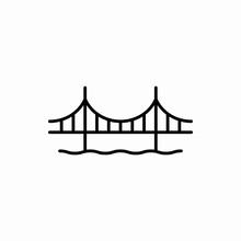 Outline Golden Gate Bridge Ico...