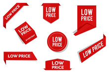 Low Price Tags, Vector Red Lab...