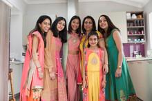 Portrait Happy Indian Women An...