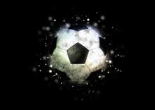 抽象的なサッカーボー...