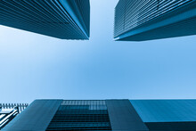 Looking Up Blue Modern Office ...