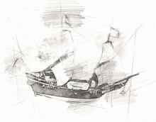 Model Boat Decorative Object A...