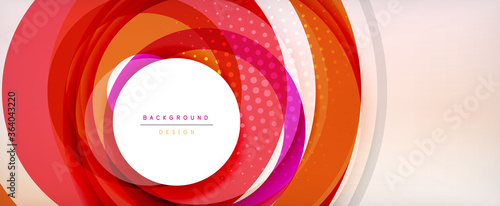 Obraz na plátne Trendy simple circle abstract background, dynamic motion concept