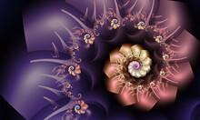 Beautiful Purple And Peach Fra...