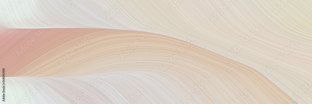 Fototapeta abstract artistic header with pastel gray, lavender and tan colors. fluid curved flowing waves and curves for poster or canvas