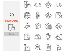 Set Of Delivery Icons, Box, Se...