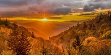Beautiful Autumn Sunrise In Gr...