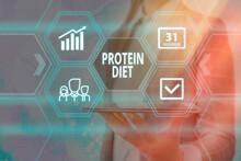 Handwriting Text Protein Diet....