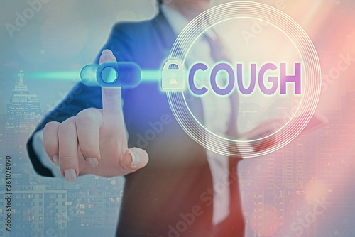 Conceptual hand writing showing Cough Canvas Print