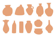 Clay Pots Silhouettes