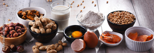 Composition with common food allergens