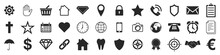 Popular Web Icons. Set Of Blac...