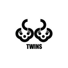 Twins Children Family Logo Ico...