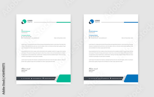 Photo Abstract Corporate Business Style Letterhead Design Vector Template For Your Project
