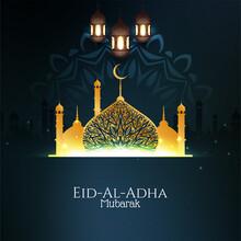 Elegant Eid-Al-Adha Mubarak Ba...