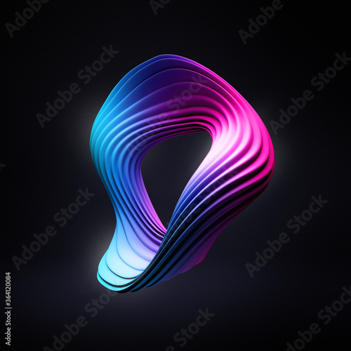 Valokuva Abstract illustration of deformed torus wallpaper for modern devices