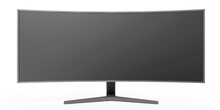 Modern Professional Widescreen Monitor With Curved Screen