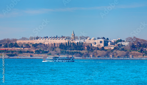Fotografia Topkapi Palace a residence of the Ottoman Sultans, view from the Bosphorus - Ist