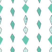 Diamond Shape Stripes Teal On ...