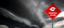 Hurricane Season Banner With S...