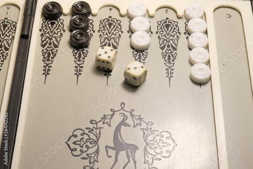 Murais de parede backgammon board game