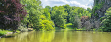 Lake In Buttes-Chaumont Park. ...