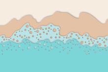 Abstract Seashore, Blue Waves ...