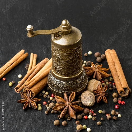 Fototapety, obrazy: Grinder for cooking spices Photo