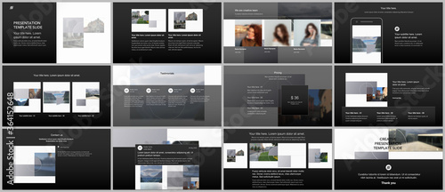 Bundle of editable business templates for digital app, web products Wallpaper Mural