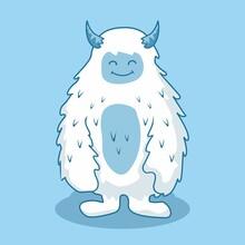 Yeti Cartoon Isolated Himalayan Snowman Illustration