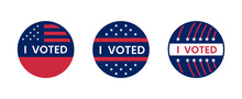I Voted Sticker With Flatterin...