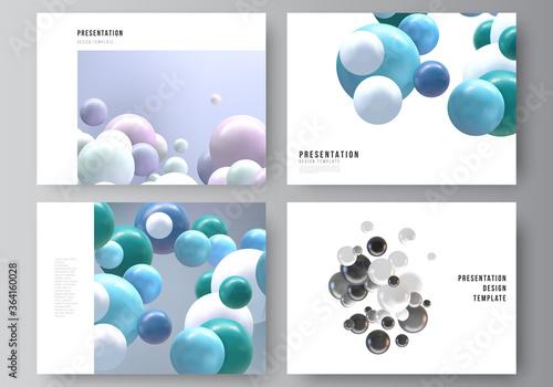 Vector layout of the presentation slides design business templates, multipurpose template for presentation brochure, report Fototapet