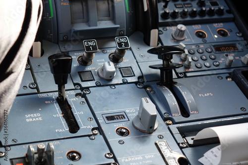 Photo avion de ligne cockpit volets