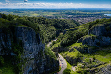Aerial View Of Cheddar Gorge A...