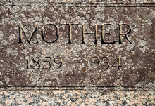 Closeup Of Grave Inscribed Wit...