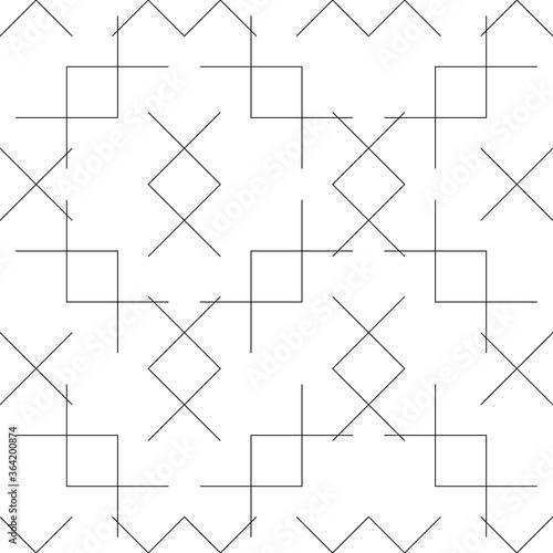 Geometric Lines Seamless Pattern, Line Seamless Pattern Wallpaper Mural
