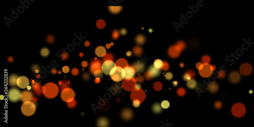 orange and yellow colorful overlay circle abstract blurred blur holiday texture Wallpaper Mural