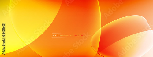 Fotografía Vector abstract background - liquid bubble shapes on fluid gradient with shadows and light effects