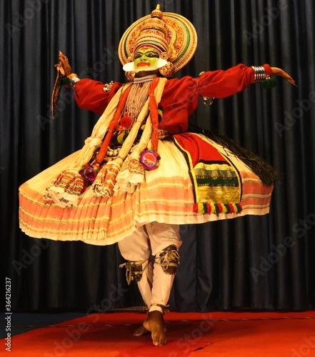 Photo Kathakali art form from Kerala, India